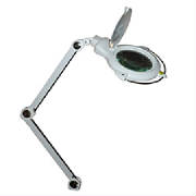 desktop magnifying  glass lighted clamp on