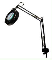 desk mounted magnifying glass for crafts with light